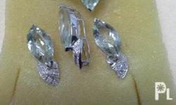 Pre Loved Jewelry set.  Earrings, ring and