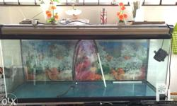 110 Galloons Fish Aquarium -- ONE PIECE. It comes with