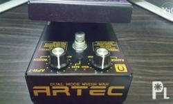 Artec Dual Mode Whish Wah Guitar Effects Pedal 9volts.
