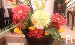 Various bright-colored flowers good for indoor and