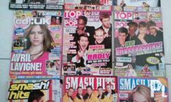 assorted UK magazines (hard to find) 50 pesos each