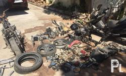 1 lot Assorted bigbike parts and 2 units of motorcycle