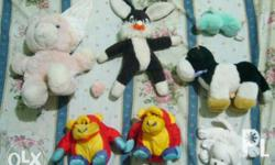 Selling these assorted old stuffed toys as set for only