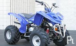 200cc ATV in original blue color, very slightly used.