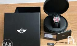 This is an authentic Mini Cooper watch leather with
