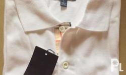 Authentic Burberry Polo Shirt Men White (L) Free