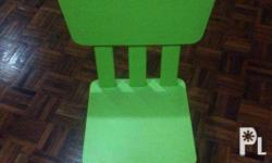 Green IKEA Mammut Chairs for Sale Very good condition