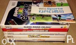 Authentic US Region Wii Game Discs with Nintendo