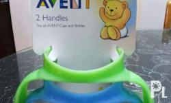 Authentic Avent handles 2pcs >Green and blue colors