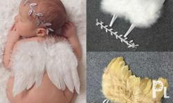 Baby Angel Wing with Headband Material: Feather Size: