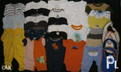 32pcs baby boy clothes sizes 3months and 6months