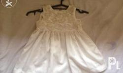White Dress with white floral pattern-400 Pm me for