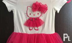 pre loved baby hello kitty dress suitable for 1 to 2