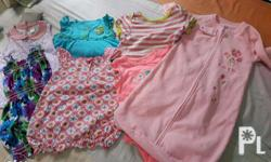 Take all, Lot 7 preloved baby girl clothes Washed Text