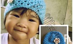 BABY HATS/ ANIMAL BABY HATS -Crochet made -Fits from