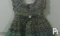 Baby knitted dress Very soft yarn Good for 3 months to