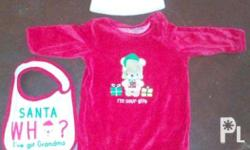 for baby girl and baby boy santa clothes for 6 mos to 9