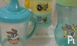 Set of baby stuff preloved.. _4 avent bottles 9oz...