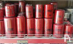 Baldwin filter (US brand) oil, fuel,hydraulic,fuel sep.