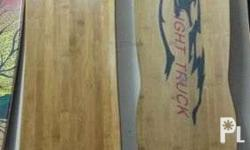 Sale! Bamboo longboard. Truck is 180mm 50 degrees