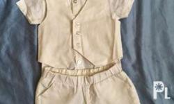 Preloved baby boy baptismal clothes Periwinkle Good