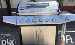 Barbecue Grill with 6 Burners and Side Stove LPG,