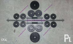 Barbell set 60lbs 4000 free delivery within metr0