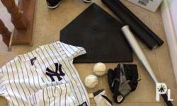 Complete set of baseball clothes and shoes with