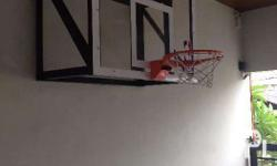 Basketball Board Fiberglass with ring and net
