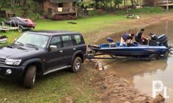 17 footer bassboat speed boat with imported trailer,