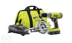 Includes all you see; Clamps, power saw (Skillsaw). air