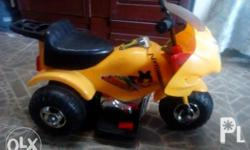 Selling my pre loved toy bike, rechargable battery,