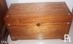 """Baul with Inlay Material : Narra Dimensions : 30"""" x 14"""""""