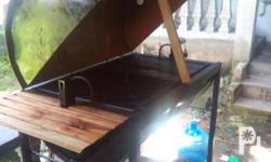 This bbq is new heavy duty it has grill and hotplate