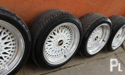 Bbs mags 15s with tire 4hols universal Bago pa mga tire