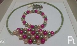 Elegant and affordable bead Necklace, bracelets, and