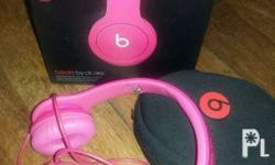 Beats Solo by Dr. Dre in hot pink color. It was