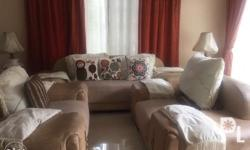 3 beige sofa set For more info please contact (02)