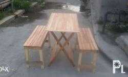 table size 25x36 bench size 13x36 tx or call lang po
