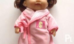 Description BERENGUER BABY GIRL DOLL WITH PINK ROBE