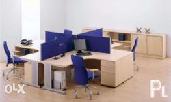 BGC Modern Workstation Partition l Office Table Chairs