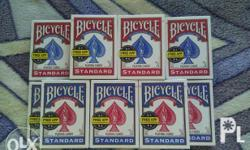 7 Blue and 6 Standard Playing cards Good for play and