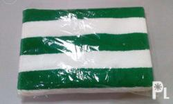 "100% Cotton Color: Green and White stripes Size: 30"" x"