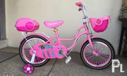 "Bike for Kids Size: 16"" Color: Pink With Training"