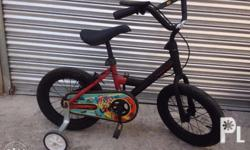 bike kids size 14 3 to 5 yrs old with balancer benta ko