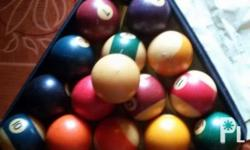 Billiards balls complete from 1-15 for 2,500 only