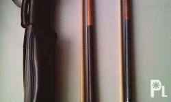 High quality pool cue sticks with form fitted insulated