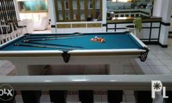 refinished great condition billiards table