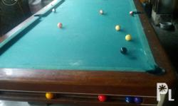 Billiard Table with complete set. Free re-carpeting,