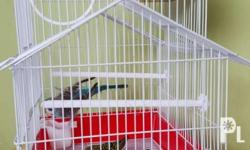 Cute house shape bird cage Color available : Red and